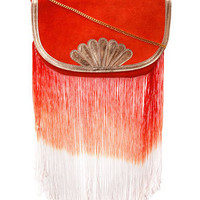 Orange suede fringe clutch bag - Clutch Bags - Handbags & Purses - Accessories - Dorothy Perkins