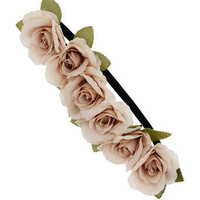 Beige flower garland - Jewellery - New In - Dorothy Perkins