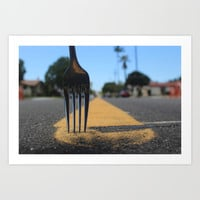 fork in the road Art Print by revengeofthenerds