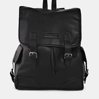 French Connection Leather Look Backpack - Black