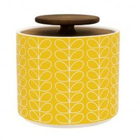 Orla Kiely Linear Yellow Storage Jar, Kitchenware from Berry Red