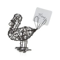 Wire Turkey Place Card Holder