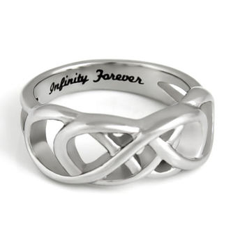 Purity Ring Infinity Forever Infinity Ring Gift Stainless Still Women's Ring
