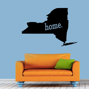 New York Home Decal - Home Decor - Car Decal - USA - America - Indoor - Outdoor - Cottage - Perfect Gift - High Quality Vinyl Graphic