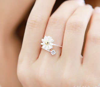 2012 new fashion design Lovely Small Chrysanthemum Flower Ring free shipping