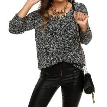 Charcoal Cuddle Up Sweater Tunic
