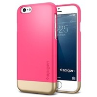 iPhone 6 Case, Spigen® [Safe Slide] iPhone 6 (4.7) Case Protective [Style Armor] [Azalea Pink] SOFT-Interior Scratch Protection Metallic Finished Base with Dual Layer Protection Slim Trendy Hard Case for iPhone 6 (4.7) (2014) - Azalea Pink (SGP11045)