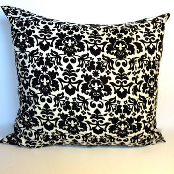 Black and White Throw Pillow, Decorative Pillow Covers, 18 by 18 inches