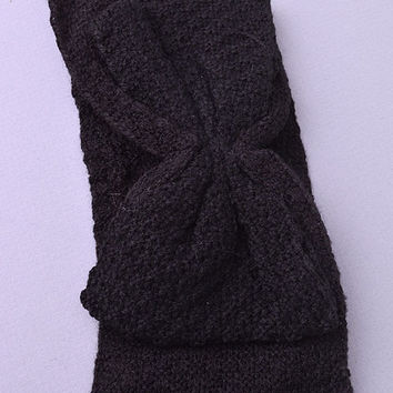 Bow Knit Head band (Black) from shopoceansoul