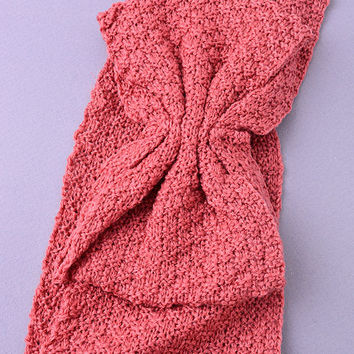 Bow Knit Head band (Rose) from shopoceansoul