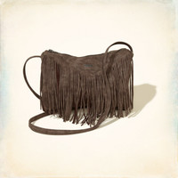 Faux Leather Fringe Duffle Bag