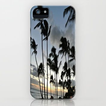 Palm Trees at Dusk iPhone & iPod Case by Julia Ann