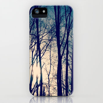 sunset behind the trees iPhone & iPod Case by Julia Ann