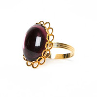 Purple Gold Gemstone Ring