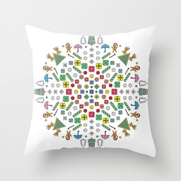 Christmas Throw Pillow by Ornaart | Society6