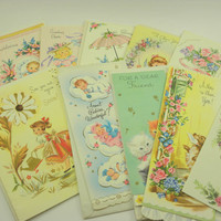 Vintage Greeting cards, Ephemera cards Un used  lot of 13 Assortment