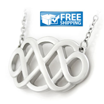 Double Infinity Necklace, Infinity Pendant, Infinity Necklace