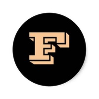 Capital Letter F Small Round Stickers by Janz