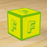 Letter F Building Block Box by Janz