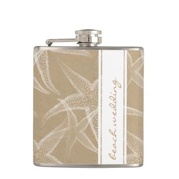 Starfish Sand Beach Wedding Flask