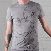 Extra small Fixie bike Men&#x27;s cotton bicycle tee by vital on Etsy