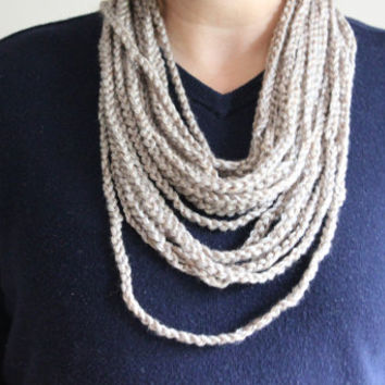 Chain Scarf, Crochet Scarf, Chain Necklace, Crochet Chain Necklace, Fall Fashion