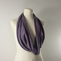 PLUM Cowl Neck Scarf - Purple Infinity Scarf - Cotton Scarf - Available in Many Colors