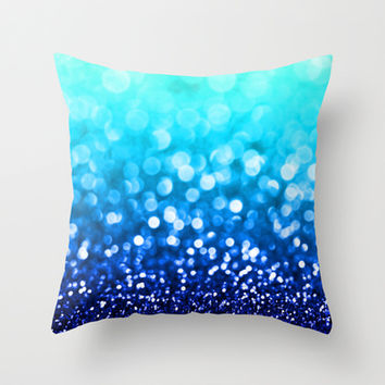 Indigo Haze Throw Pillow by Tangerine-Tane