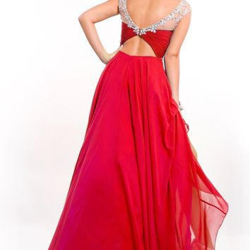 2015 Party Time Sleeved Prom Dress 6555