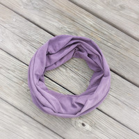PURPLE PLUM Infinity Scarf - Washed Plum Eternity Scarf - Plum Berry Purple Loop Scarf