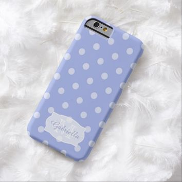 Purple Polka-Dot: Personalized: iPhone 6 case