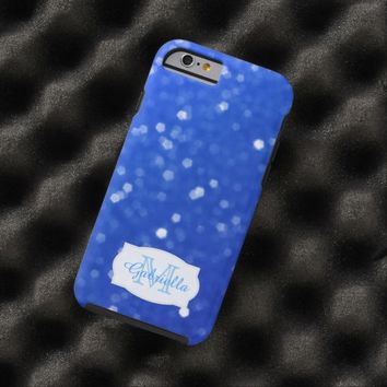 Personalized Blue Glimmer Case
