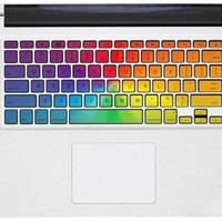 rainbow keyboard decal----mac pro decals mac pro stickers  macbook decals stickers macbook  Apple Mac Decal keyboard decals keyboard sticker