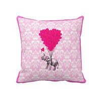 Pink elephant pillow from Zazzle.com
