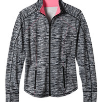 plus size zip front spacedye performance jacket