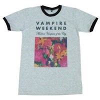 Vampire Weekend T-Shirt floral indie punk rock music / GV58.4 size L