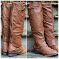 Montana Maple Tan Strap Riding Boots