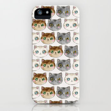 Meow Meow Purr Purr iPhone & iPod Case by Sara Eshak