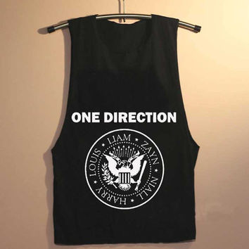 one direction ramones yuppy shop for Tank top Mens and Girls available S - XXL customized