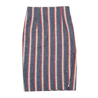 Color Striped Slim-Fit Skirt