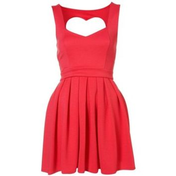 Vest Dress with Heart Cut Out Back 090338
