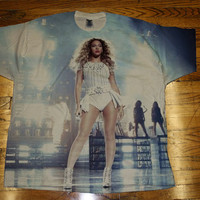 Beyonce shirt beyonce tshirt Jay Z On The Run Tour Shirt All Over print Custom Sublimated T Shirt Tee Unisex Women and Men