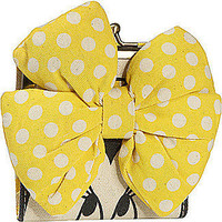 Minnie Mouse Yellow Bow Kisslock Wallet by Loungefly