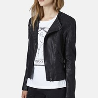 Women's Topshop Faux Leather Biker Jacket