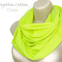 Infinity Scarf Yellow Neon Bright Spring Bold