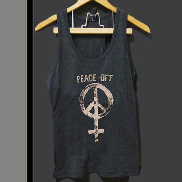 peace off for Tank top Mens and Tank top Girls ZeroSaint custom