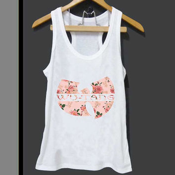 Wu Tang Clan Vintage Floral Pattern Logo for Tank top Mens and Tank top Girls ZeroSaint custom