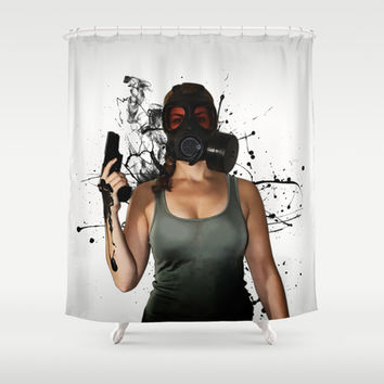 Bellatrix - Horizontal Shower Curtain by Nicklas Gustafsson