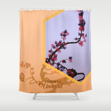 Unwind ( tree series cont.) Shower Curtain by Laura Santeler