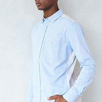 SLVDR Blythe Knit-Back Button-Down Shirt - Urban Outfitters